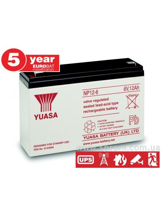 Аккумулятор Yuasa NP 0,8...65-12. Герметизированный необслуживаемый свинцово-кислотный