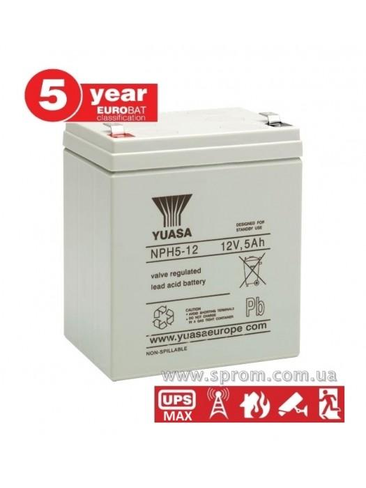 Аккумулятор Yuasa NPH 5-12, NPW 45-12. Герметизированный необслуживаемый свинцово-кислотный