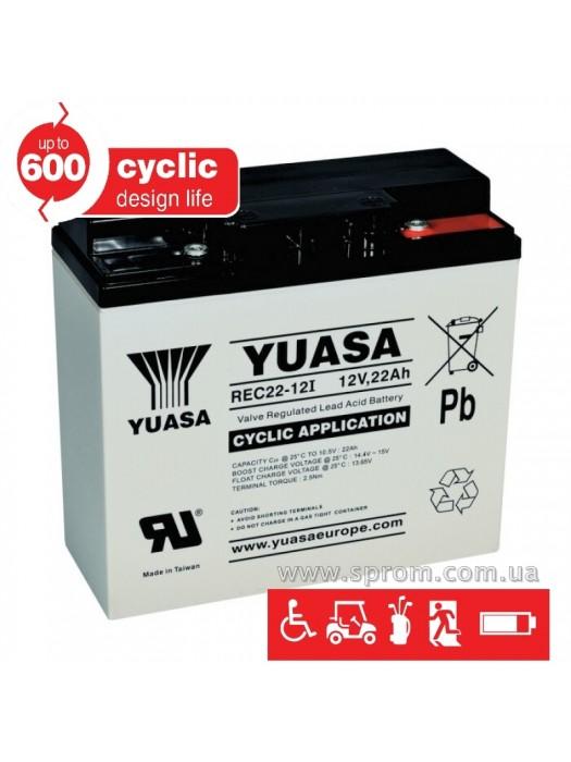 Аккумулятор Yuasa REC10-12 ... REC80-12, NPC24-12 ... NPC100-12. Герметизированный необслуживаемый свинцово-кислотный