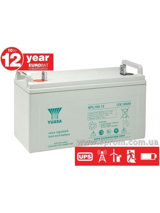 Аккумулятор Yuasa NPL 24-12 ... 100-12. Герметизированный необслуживаемый свинцово-кислотный