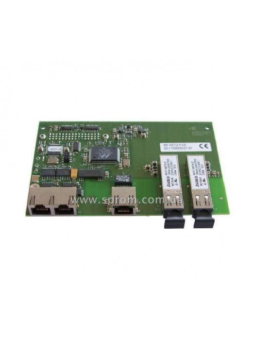 Модуль сетевой B6-NET2-FXS (1xRS-485, 1xLAN, 2xFXS)