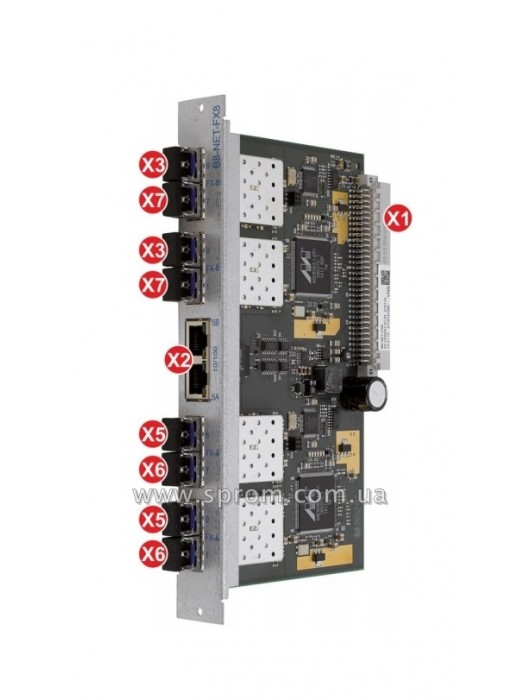 Модуль сетевой B8-NET-FX8 (2xLAN, 8xFX)